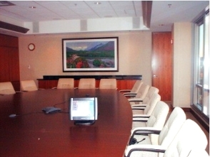 use audiovisual, lighting, digital signage and meeting management systes for presentations, video conferences company training.
